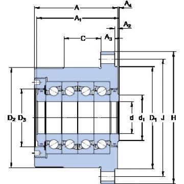 SKF FBSA 210 A/QFC thrust ball bearings
