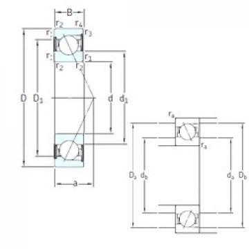 10 mm x 30 mm x 9 mm  10 mm x 30 mm x 9 mm  SKF SS7200 ACD/P4A angular contact ball bearings