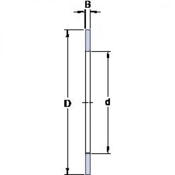 140 mm x 180 mm x 1 mm  140 mm x 180 mm x 1 mm  SKF AS 140180 thrust roller bearings