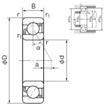 190 mm x 340 mm x 55 mm  NACHI 7238B angular contact ball bearings