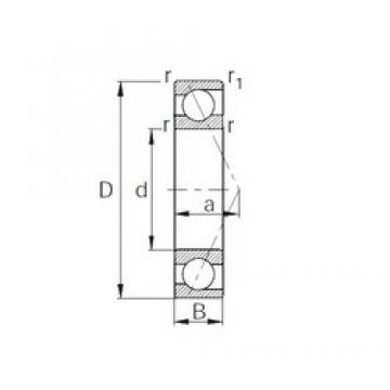 40 mm x 52 mm x 7 mm  40 mm x 52 mm x 7 mm  CYSD 7808C angular contact ball bearings