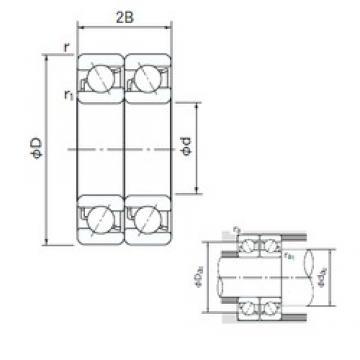40 mm x 90 mm x 23 mm  NACHI 7308CDT angular contact ball bearings