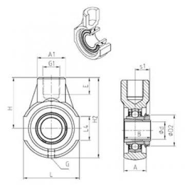 SNR UKEHE206H bearing units