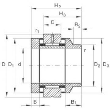 30 mm x 62 mm x 10 mm  INA ZARN3062-L-TV complex bearings