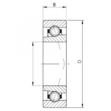 ISO 71964 C angular contact ball bearings