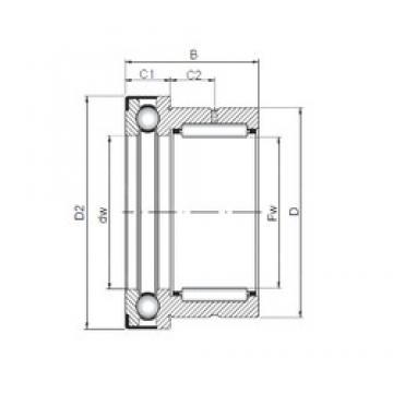 60 mm x 72 mm x 40 mm  60 mm x 72 mm x 40 mm  ISO NKX 60 Z complex bearings
