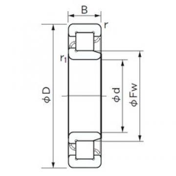 120 mm x 180 mm x 28 mm  120 mm x 180 mm x 28 mm  NACHI NJ 1024 cylindrical roller bearings