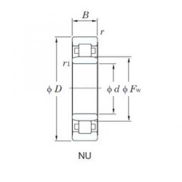 60 mm x 95 mm x 18 mm  60 mm x 95 mm x 18 mm  KOYO NU1012 cylindrical roller bearings