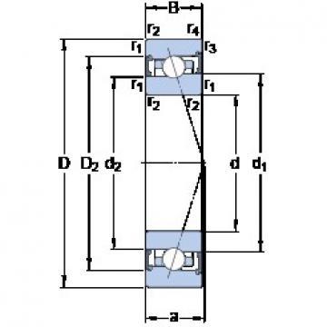35 mm x 55 mm x 10 mm  35 mm x 55 mm x 10 mm  SKF S71907 ACB/P4A angular contact ball bearings
