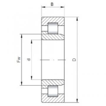 950 mm x 1150 mm x 150 mm  950 mm x 1150 mm x 150 mm  ISO NJ38/950 cylindrical roller bearings