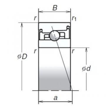 70 mm x 110 mm x 24 mm  70 mm x 110 mm x 24 mm  NSK 70BNR20SV1V angular contact ball bearings