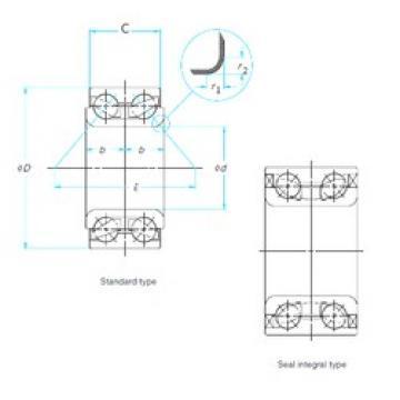 48 mm x 89 mm x 44 mm  SNR GB35119 angular contact ball bearings
