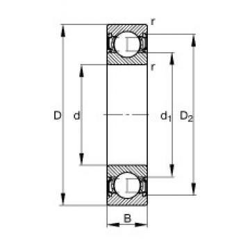 4 mm x 13 mm x 5 mm  4 mm x 13 mm x 5 mm  FAG 624-2RSR deep groove ball bearings