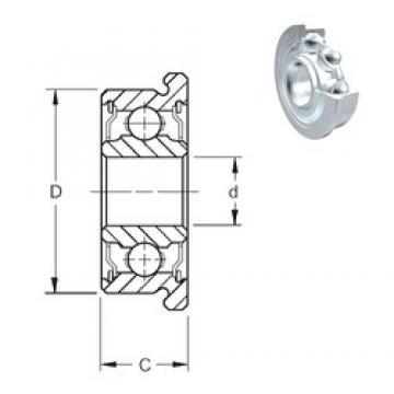 5 mm x 16 mm x 5 mm  5 mm x 16 mm x 5 mm  ZEN SF625-2Z deep groove ball bearings