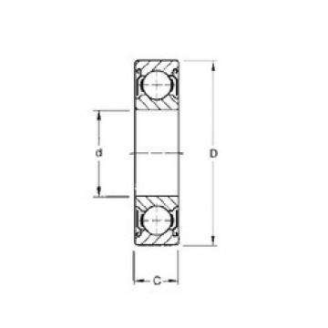 160 mm x 200 mm x 20 mm  160 mm x 200 mm x 20 mm  CYSD 6832-ZZ deep groove ball bearings