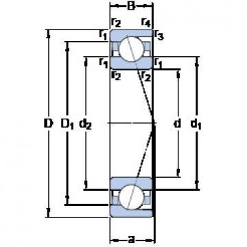 105 mm x 160 mm x 26 mm  105 mm x 160 mm x 26 mm  SKF 7021 ACD/HCP4A angular contact ball bearings