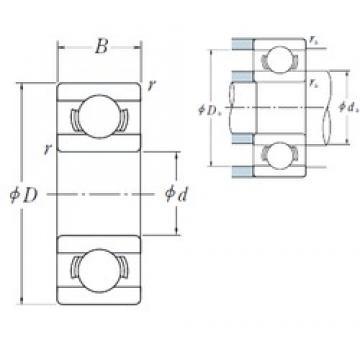 5 mm x 8 mm x 2 mm  5 mm x 8 mm x 2 mm  NSK MR 85 deep groove ball bearings