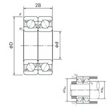 90 mm x 190 mm x 43 mm  90 mm x 190 mm x 43 mm  NACHI 7318DB angular contact ball bearings