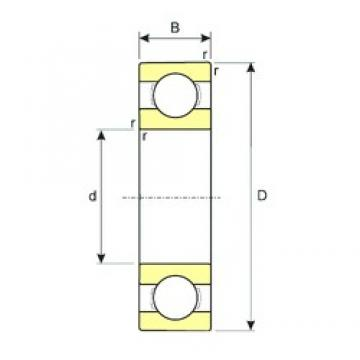 130 mm x 200 mm x 33 mm  130 mm x 200 mm x 33 mm  ISB 6026 deep groove ball bearings