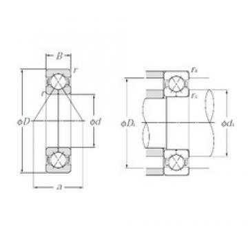 70 mm x 150 mm x 35 mm  NTN QJ314 angular contact ball bearings