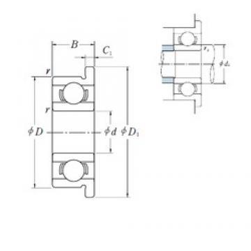 6,35 mm x 12,7 mm x 3,175 mm  6,35 mm x 12,7 mm x 3,175 mm  NSK FR 188 deep groove ball bearings