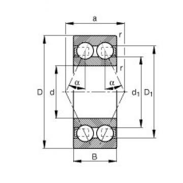 20 mm x 52 mm x 22,2 mm  20 mm x 52 mm x 22,2 mm  FAG 3304-BD angular contact ball bearings