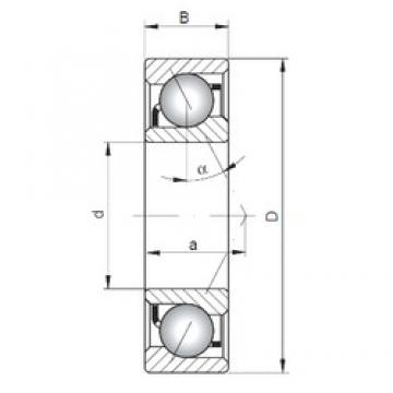 105 mm x 225 mm x 49 mm  ISO 7321 B angular contact ball bearings