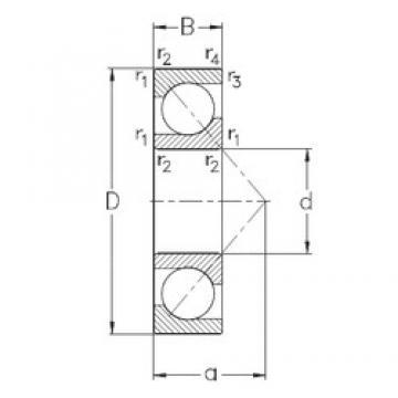 90 mm x 160 mm x 30 mm  90 mm x 160 mm x 30 mm  NKE 7218-BECB-MP angular contact ball bearings