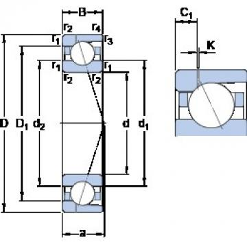 130 mm x 180 mm x 24 mm  SKF 71926 CD/P4AH1 angular contact ball bearings