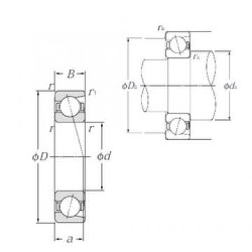 70 mm x 125 mm x 24 mm  NTN 7214C angular contact ball bearings