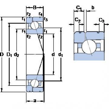 70 mm x 110 mm x 20 mm  70 mm x 110 mm x 20 mm  SKF 7014 ACE/P4AL1 angular contact ball bearings