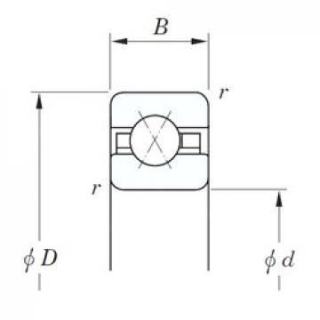 304,8 mm x 323,85 mm x 9,525 mm  KOYO KCX120 angular contact ball bearings