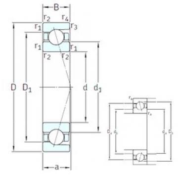 45 mm x 58 mm x 7 mm  45 mm x 58 mm x 7 mm  SNFA SEA45 7CE3 angular contact ball bearings