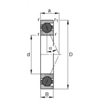 35 mm x 72 mm x 17 mm  35 mm x 72 mm x 17 mm  FAG HCB7207-E-T-P4S angular contact ball bearings