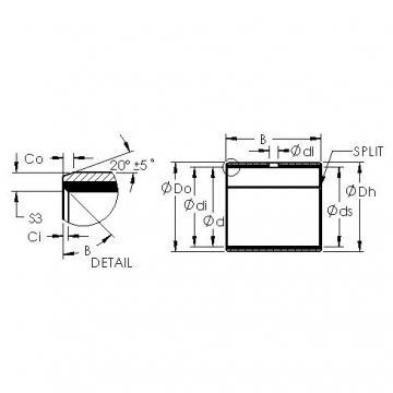 AST AST40 4020 plain bearings