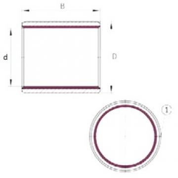 60 mm x 65 mm x 50 mm  60 mm x 65 mm x 50 mm  INA EGB6050-E40-B plain bearings
