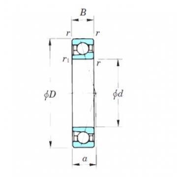 105 mm x 160 mm x 26 mm  KOYO 7021CPA angular contact ball bearings