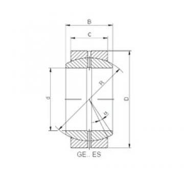 260 mm x 370 mm x 150 mm  260 mm x 370 mm x 150 mm  ISO GE 260 ES plain bearings