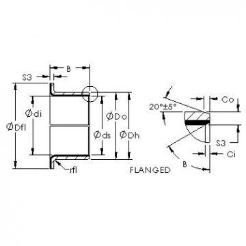 AST AST50 24FIB32 plain bearings
