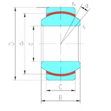 17 mm x 30 mm x 14 mm  17 mm x 30 mm x 14 mm  LS GE17N plain bearings