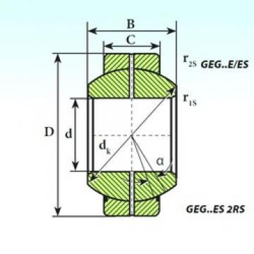 100 mm x 160 mm x 85 mm  100 mm x 160 mm x 85 mm  ISB GEG 100 ES 2RS plain bearings
