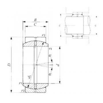 45 mm x 68 mm x 32 mm  45 mm x 68 mm x 32 mm  IKO GE 45ES plain bearings