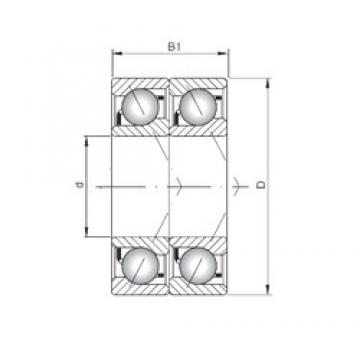 ISO 7313 BDT angular contact ball bearings