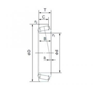 30.000 mm x 63.500 mm x 20.638 mm  30.000 mm x 63.500 mm x 20.638 mm  NACHI 15117/15250X tapered roller bearings