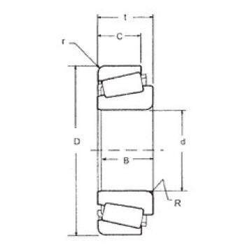 104,775 mm x 180,975 mm x 48,006 mm  104,775 mm x 180,975 mm x 48,006 mm  FBJ 786/772 tapered roller bearings