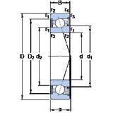 70 mm x 110 mm x 20 mm  SKF S7014 ACE/HCP4A angular contact ball bearings