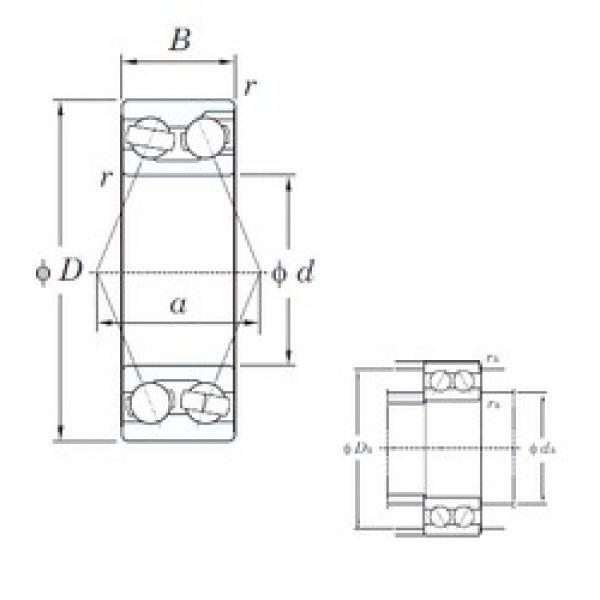 105 mm x 190 mm x 65.1 mm  105 mm x 190 mm x 65.1 mm  KOYO 3221 angular contact ball bearings #3 image