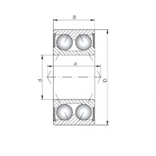 ISO 3211-2RS angular contact ball bearings #3 image