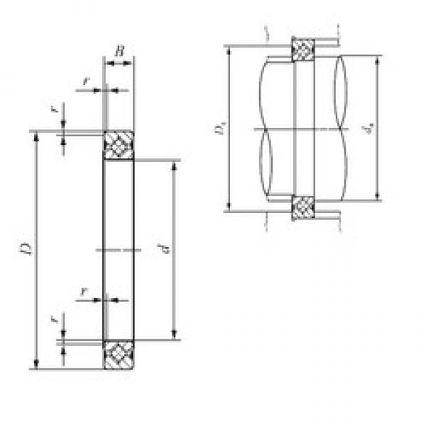 190 mm x 216 mm x 13 mm  IKO CRBS 19013 V UU thrust roller bearings #1 image
