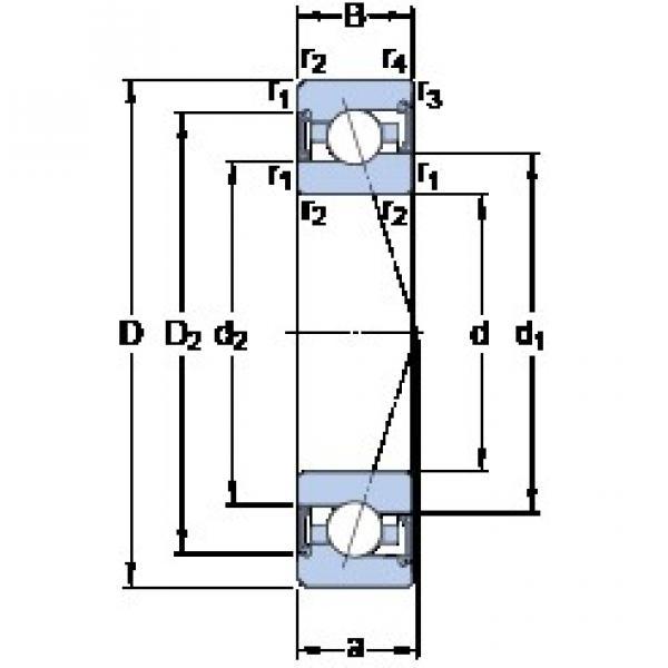 70 mm x 110 mm x 20 mm  70 mm x 110 mm x 20 mm  SKF S7014 ACE/HCP4A angular contact ball bearings #3 image